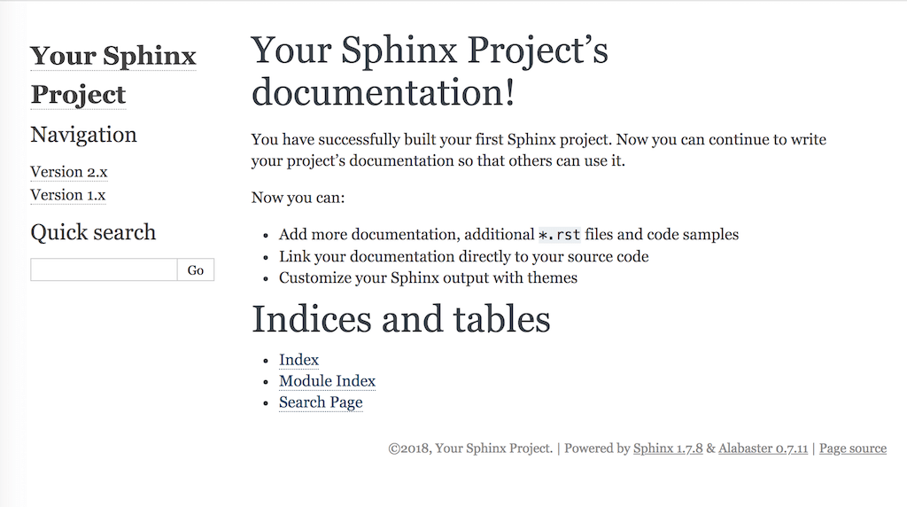 Getting Started with Sphinx — Read the Docs 3 7 2 documentation
